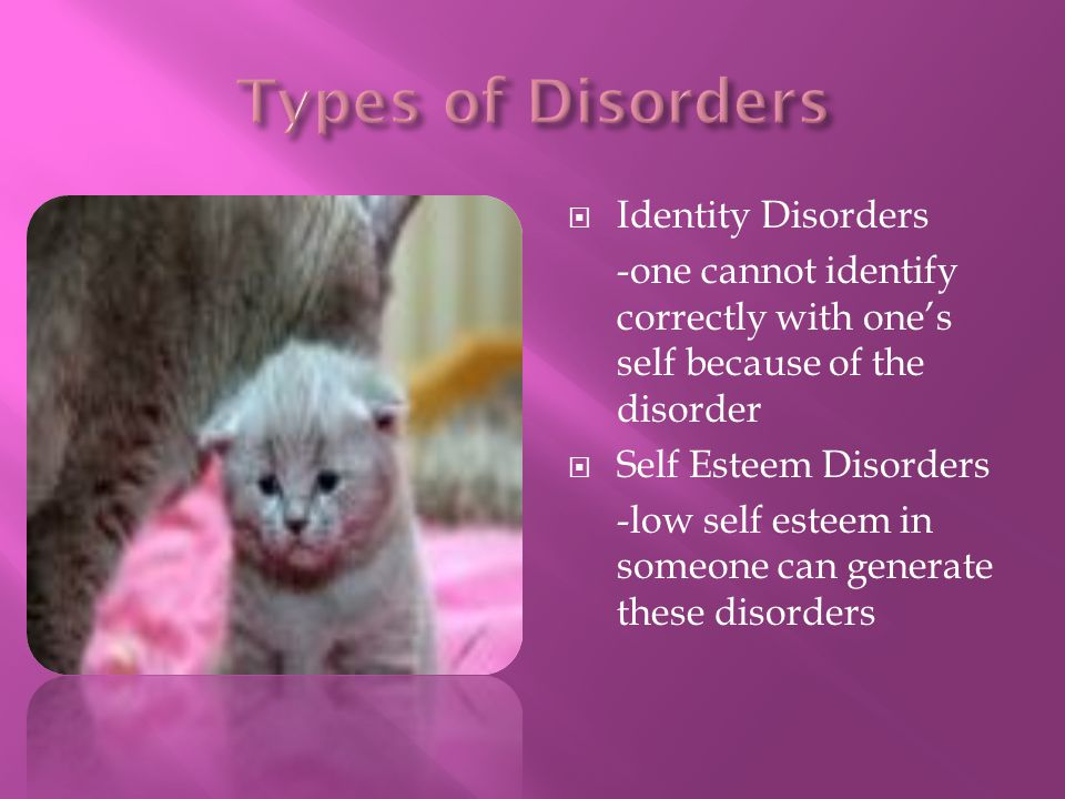 Types of Disorders Identity Disorders