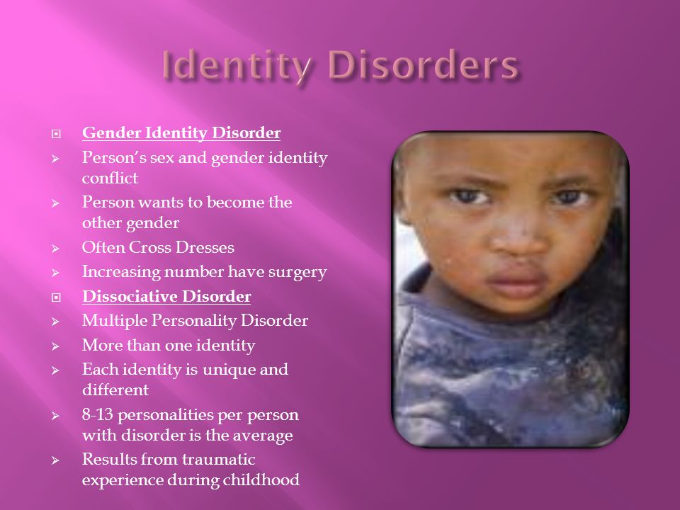 Identity Disorders Gender Identity Disorder