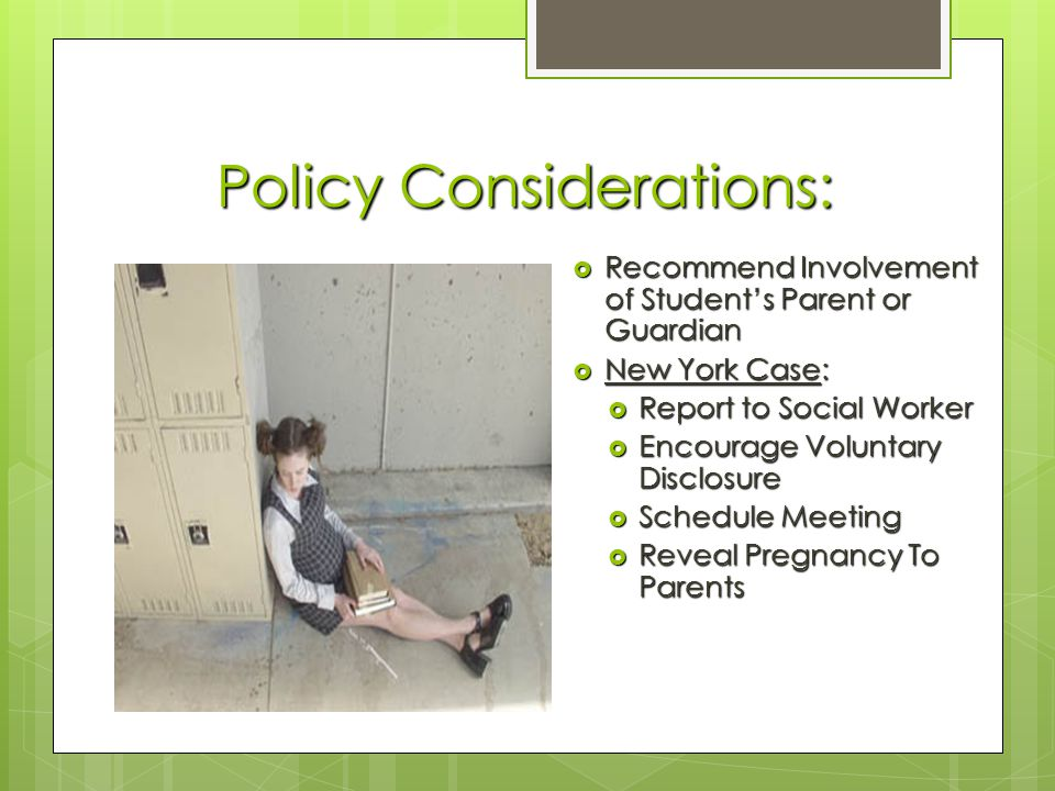 Policy Considerations:
