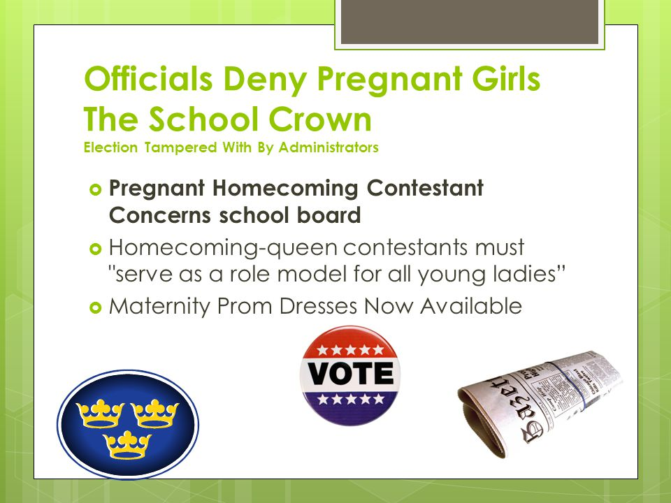 Officials Deny Pregnant Girls The School Crown Election Tampered With By Administrators