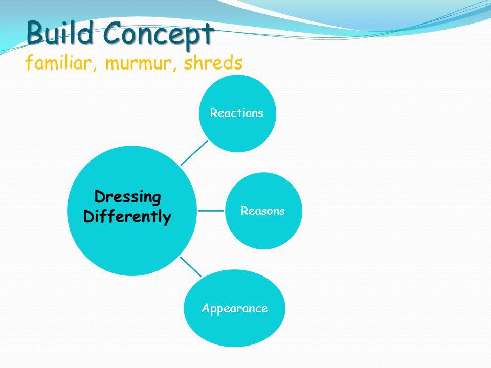 Build Concept familiar, murmur, shreds