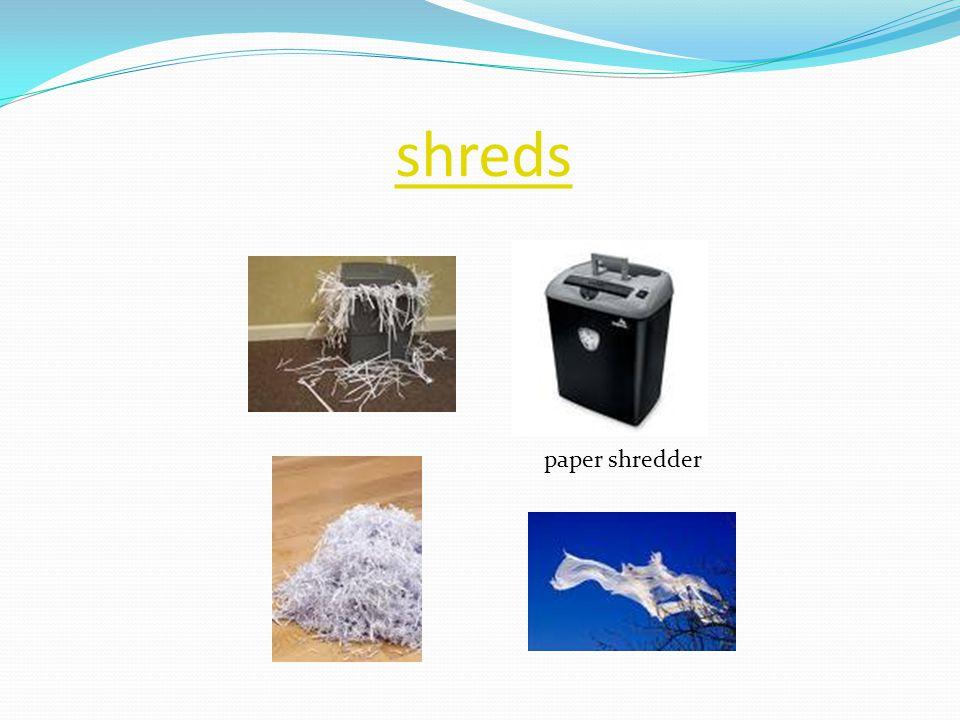 shreds paper shredder