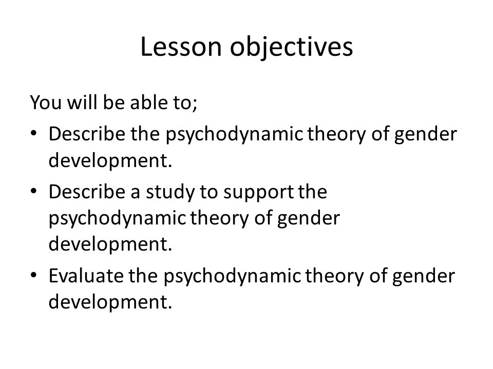 Lesson objectives You will be able to;