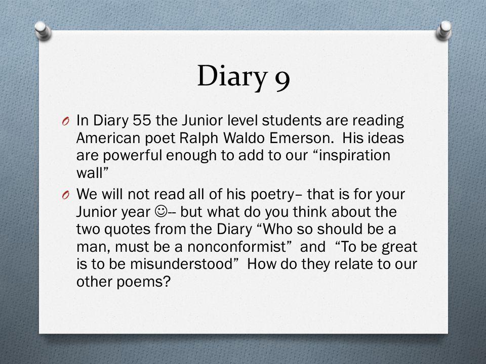 Diary 9