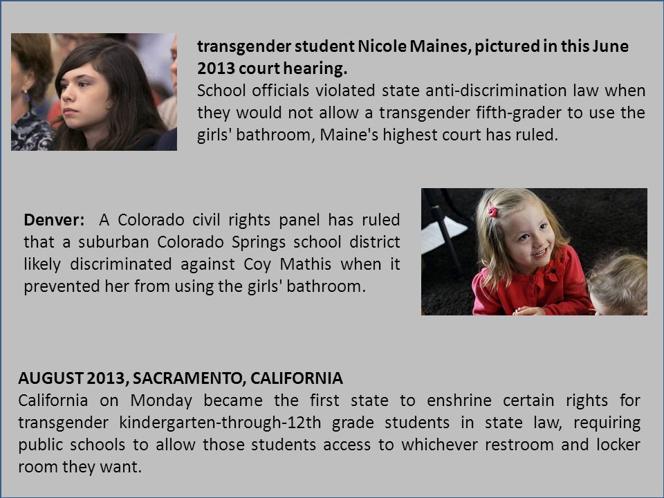 transgender student Nicole Maines, pictured in this June 2013 court hearing.