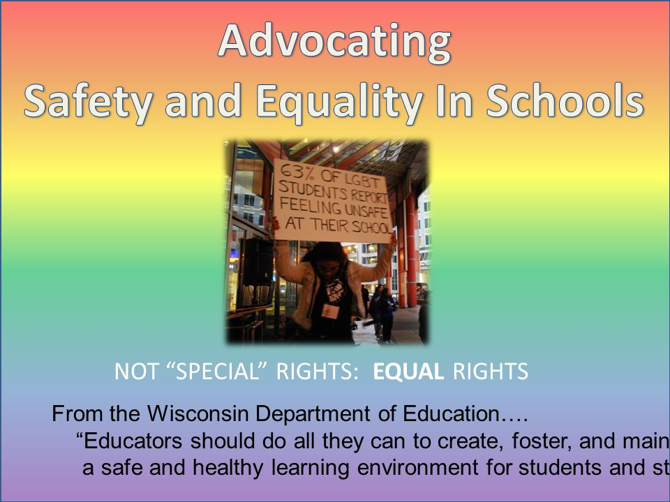 Safety and Equality In Schools