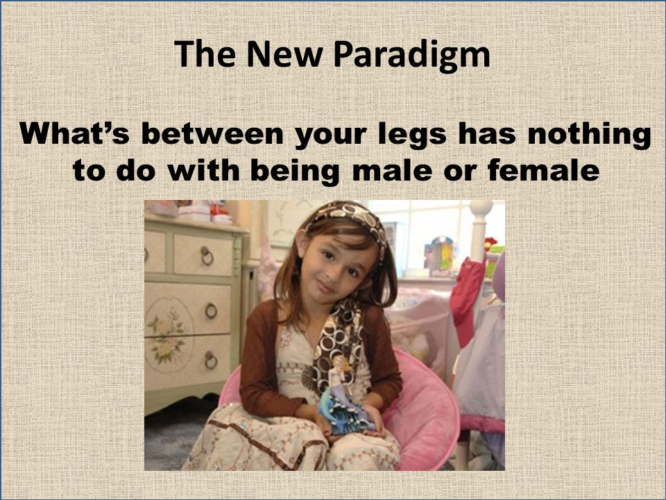 What's between your legs has nothing to do with being male or female