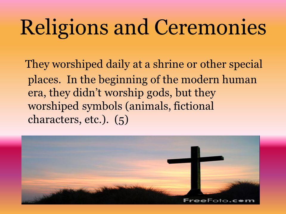 Religions and Ceremonies