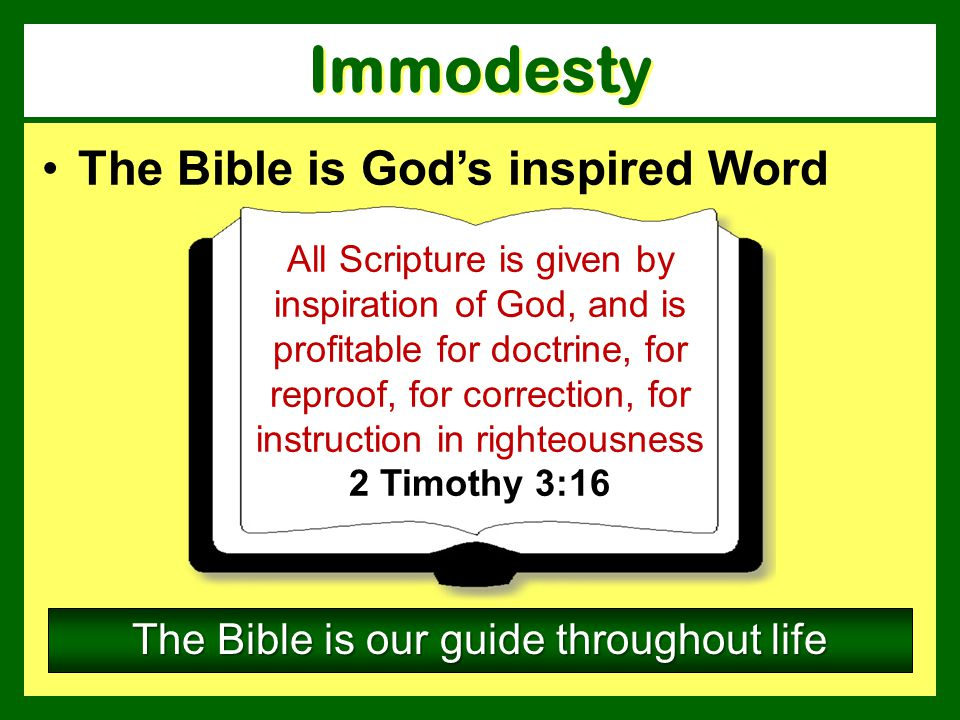 The Bible is our guide throughout life