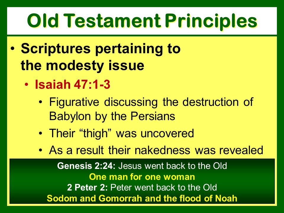 Old Testament Principles