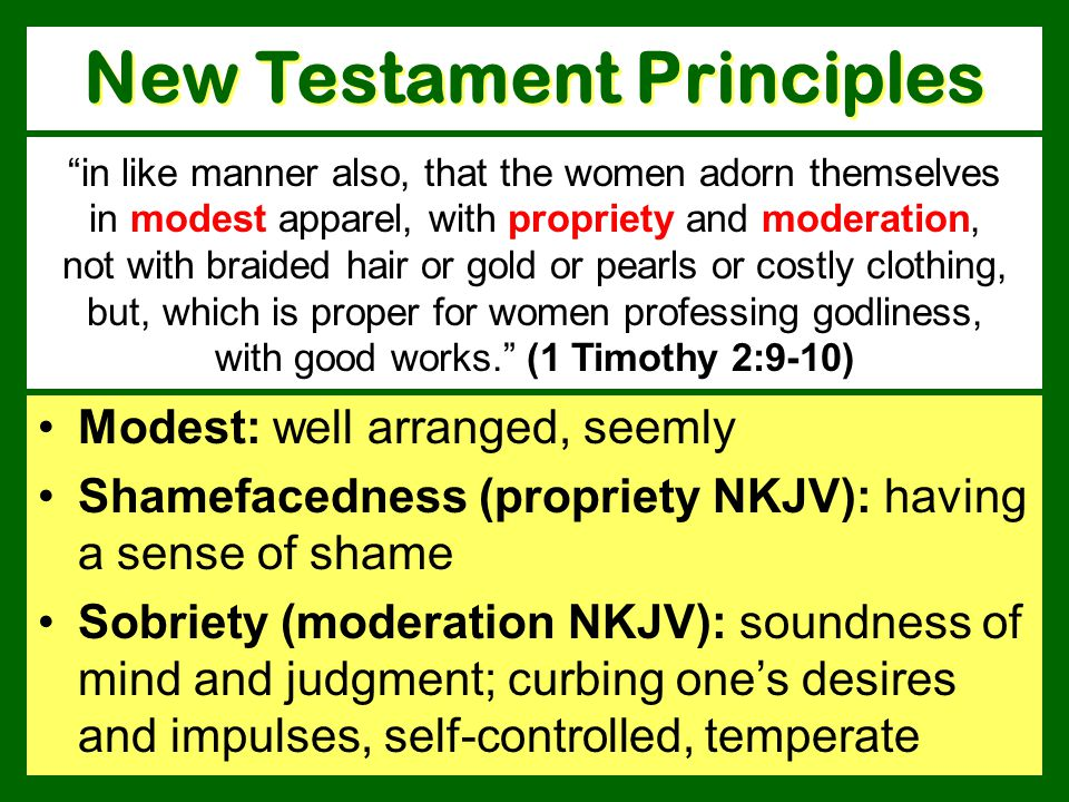 New Testament Principles