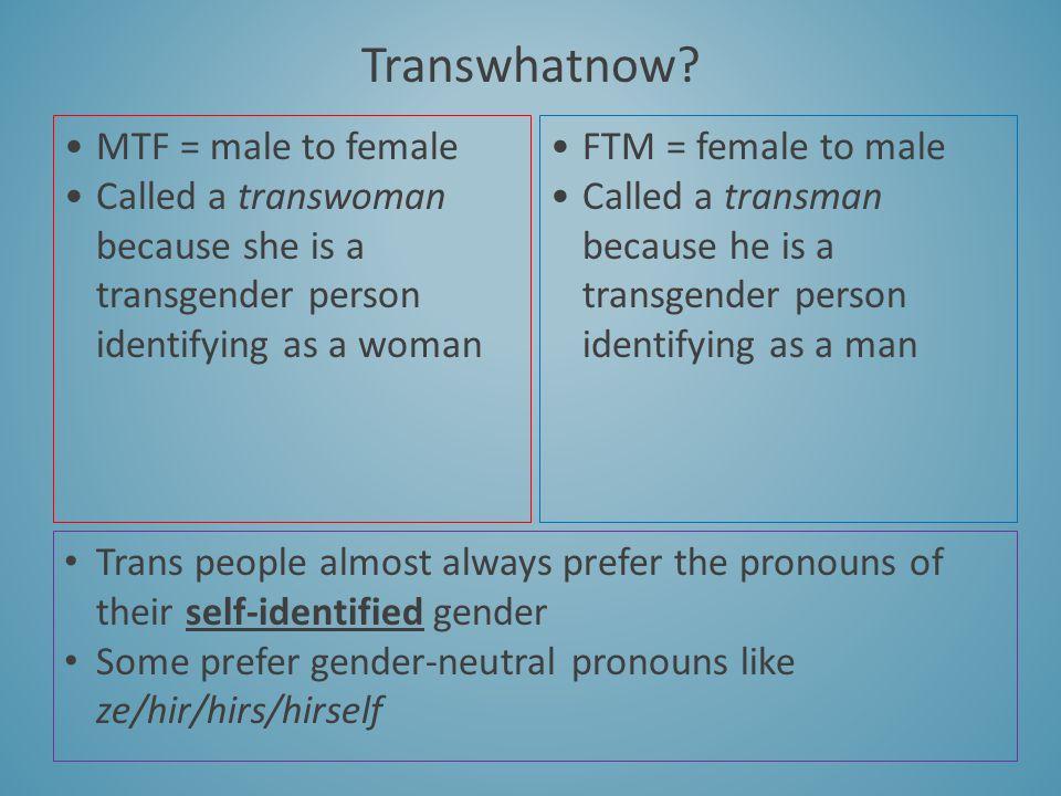 Transwhatnow MTF = male to female