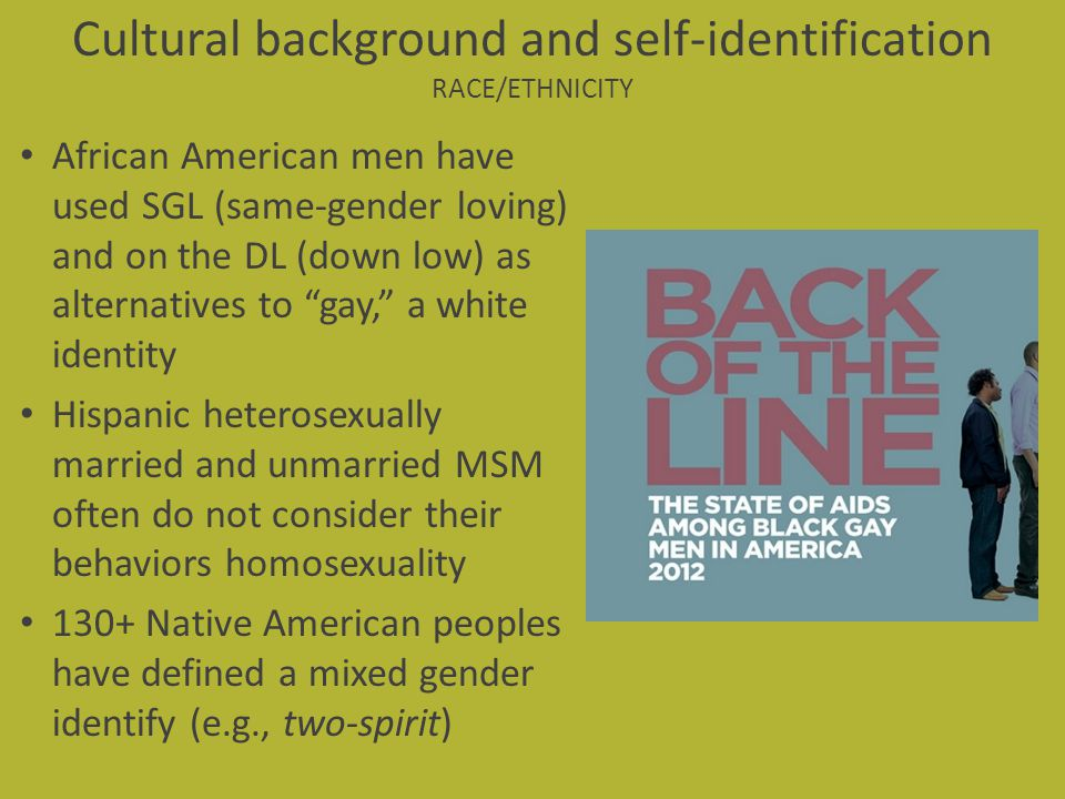 Cultural background and self-identification RACE/ETHNICITY