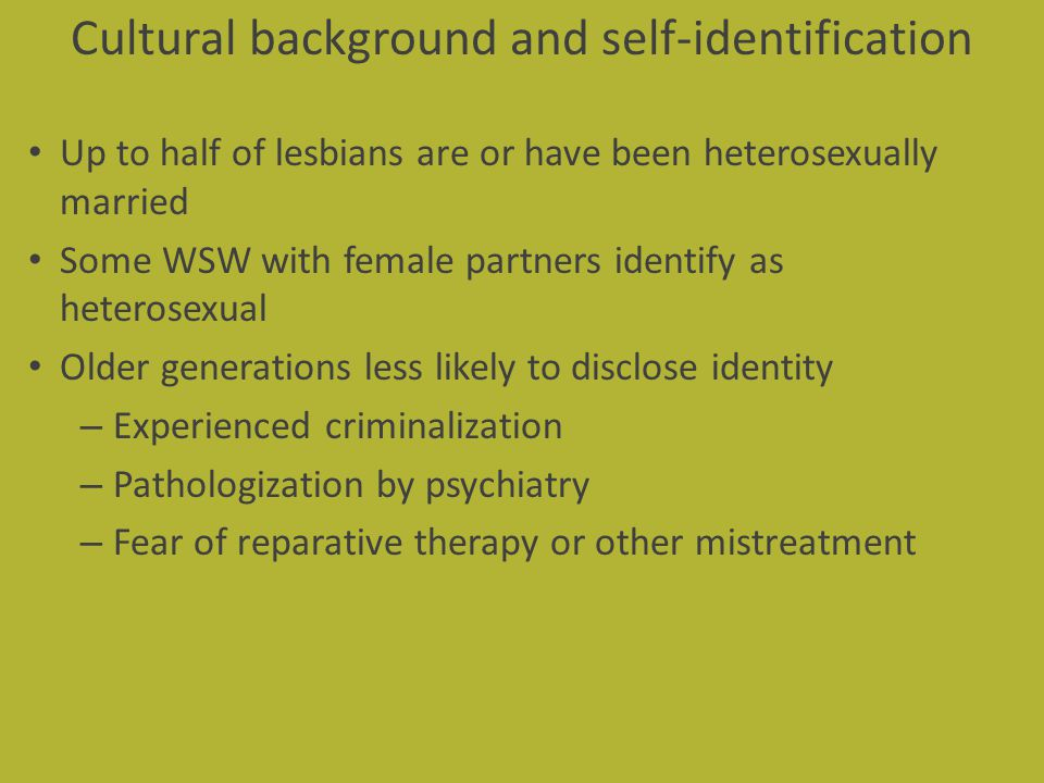 Cultural background and self-identification