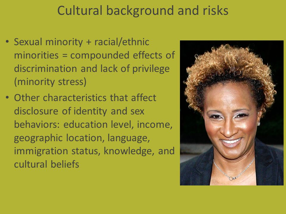 Cultural background and risks