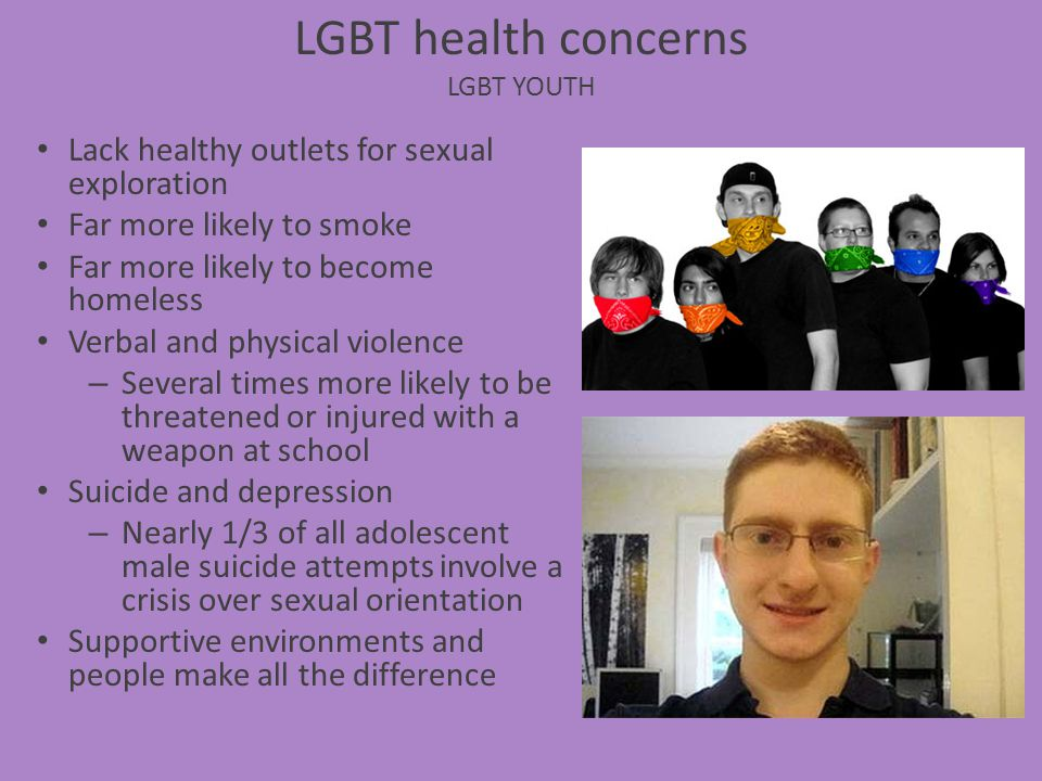 LGBT health concerns LGBT Youth