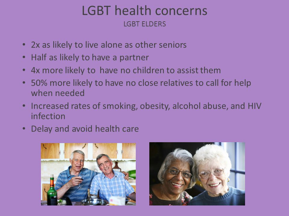 LGBT health concerns LGBT Elders