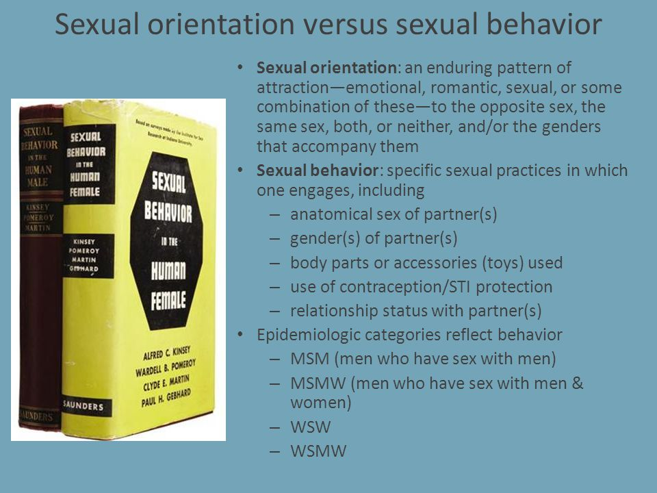 Sexual orientation versus sexual behavior