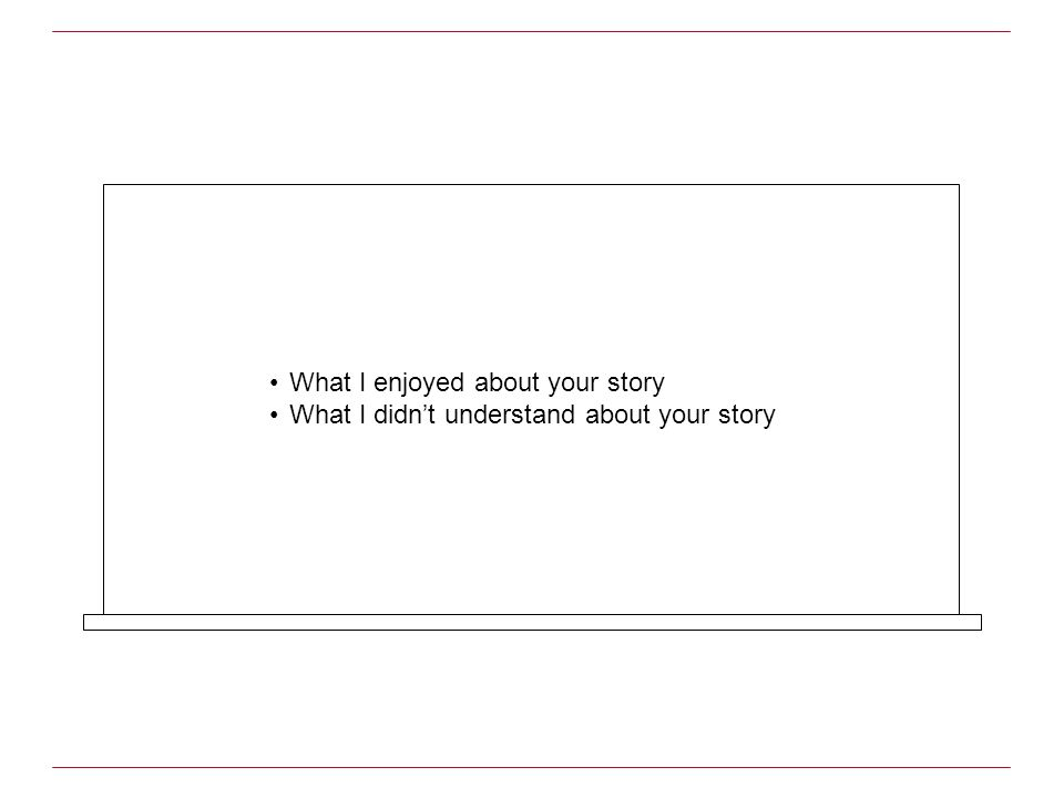 What I enjoyed about your story