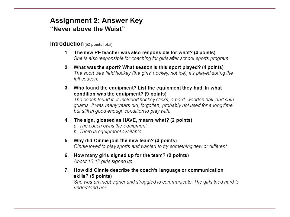 assignment 3 answers Start studying bmr assignment 3 learn vocabulary, terms, and more with flashcards, games, and other study tools.