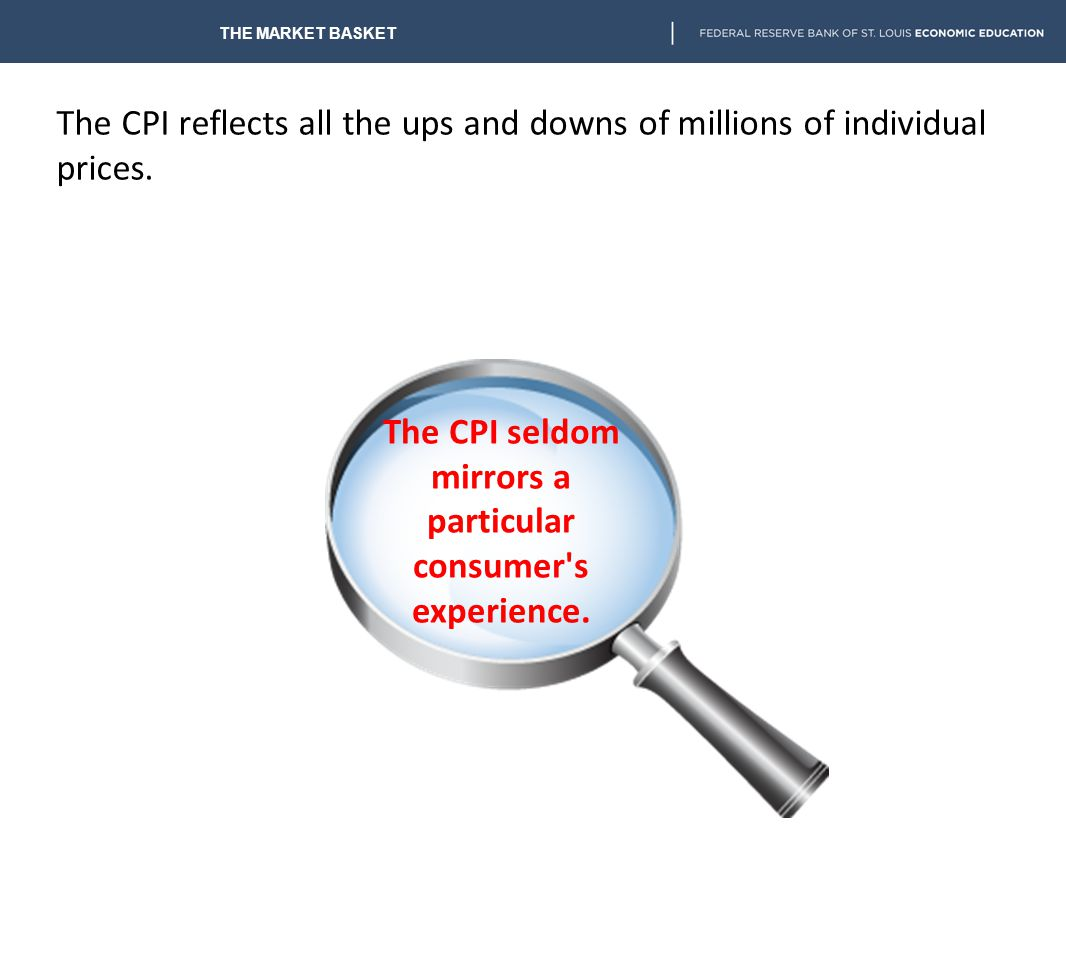 The CPI seldom mirrors a particular consumer s experience.