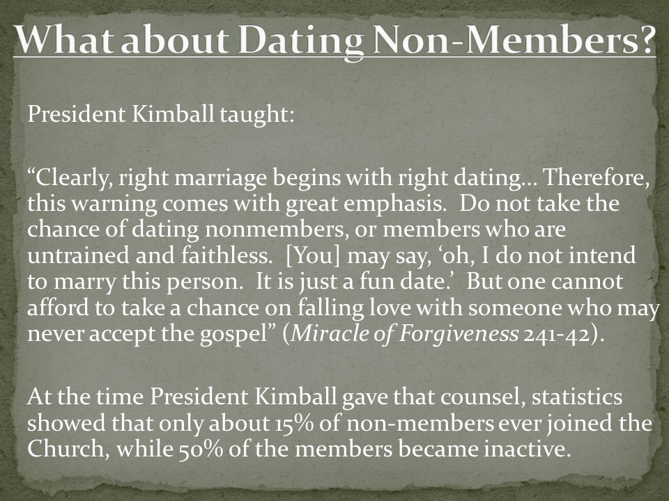 What about Dating Non-Members