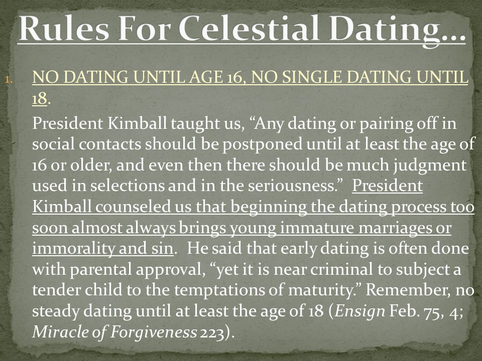 Fita 18 rules for celestial dating