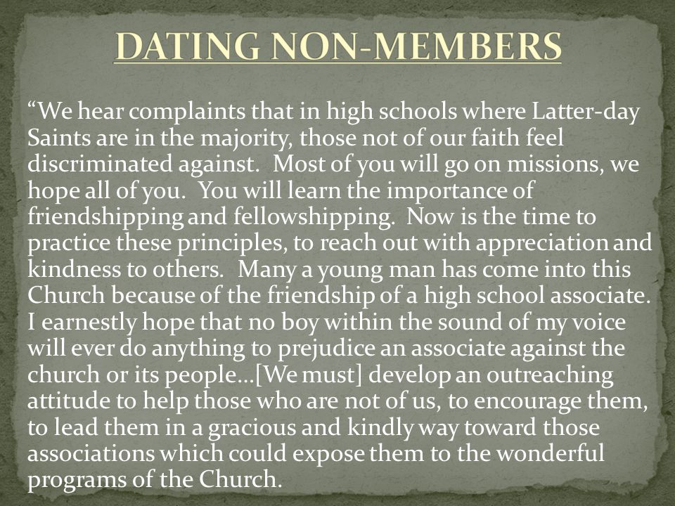 DATING NON-MEMBERS