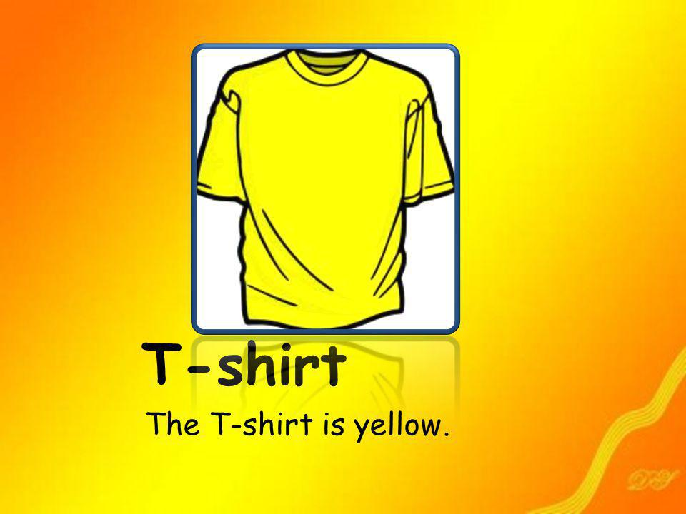 T-shirt The T-shirt is yellow.