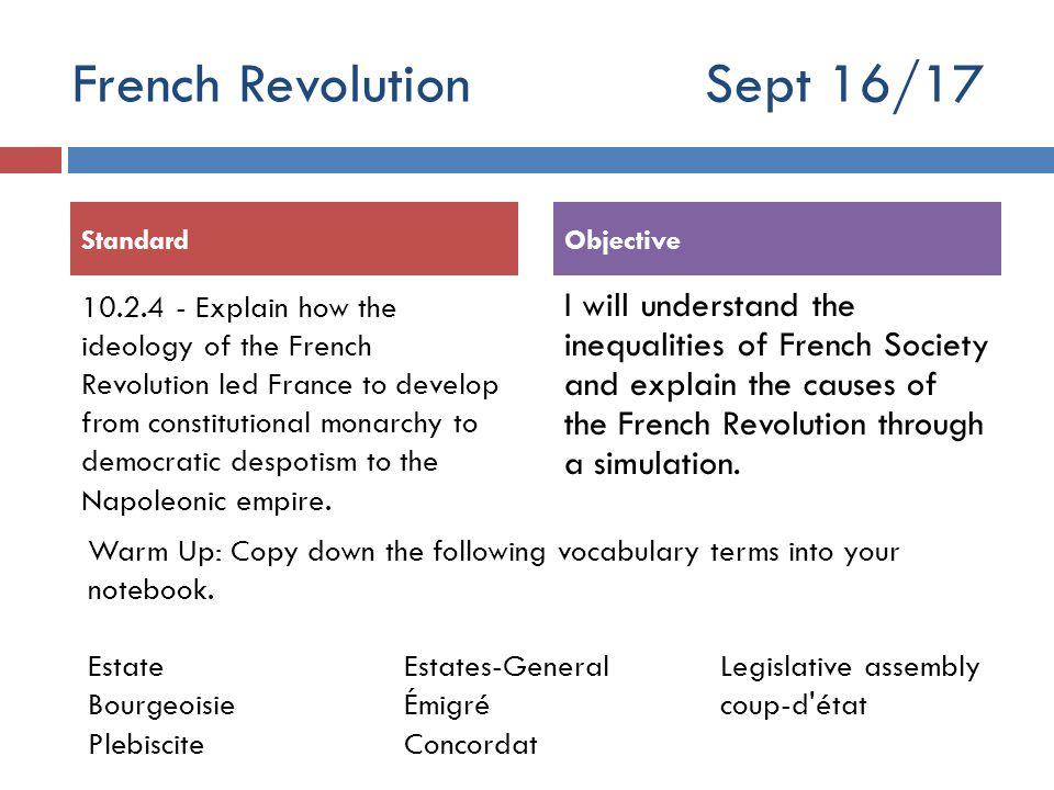 French Revolution Sept 16/17