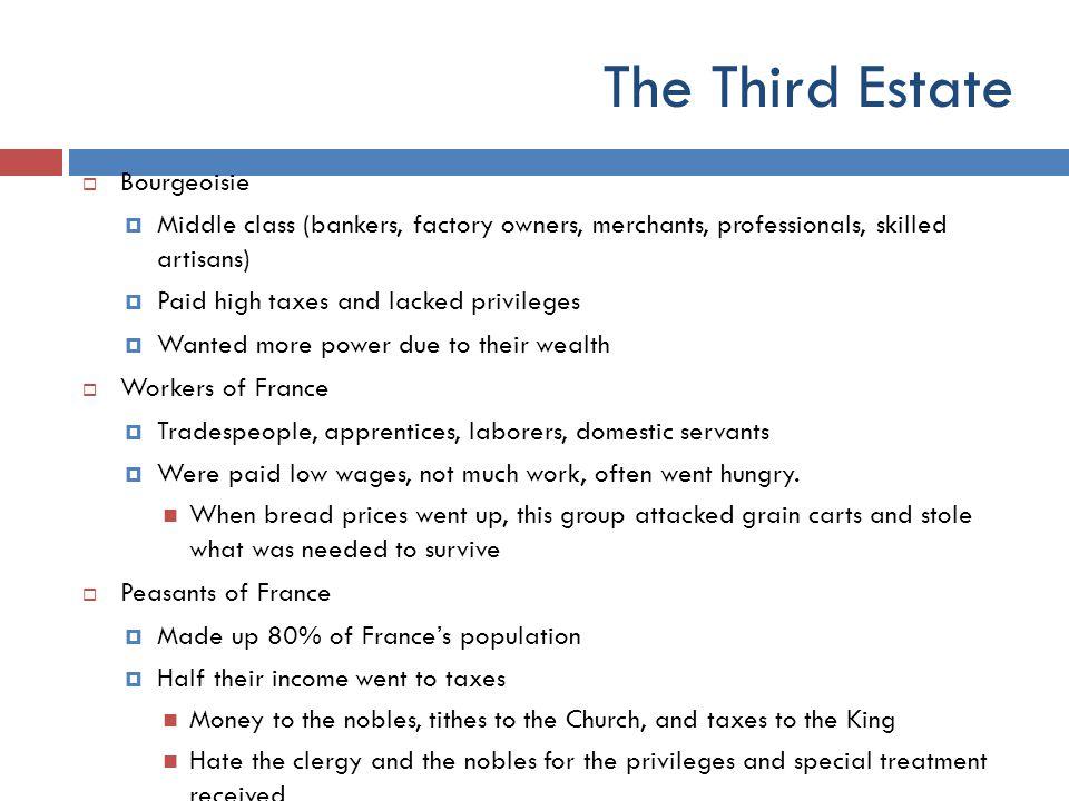 The Third Estate Bourgeoisie