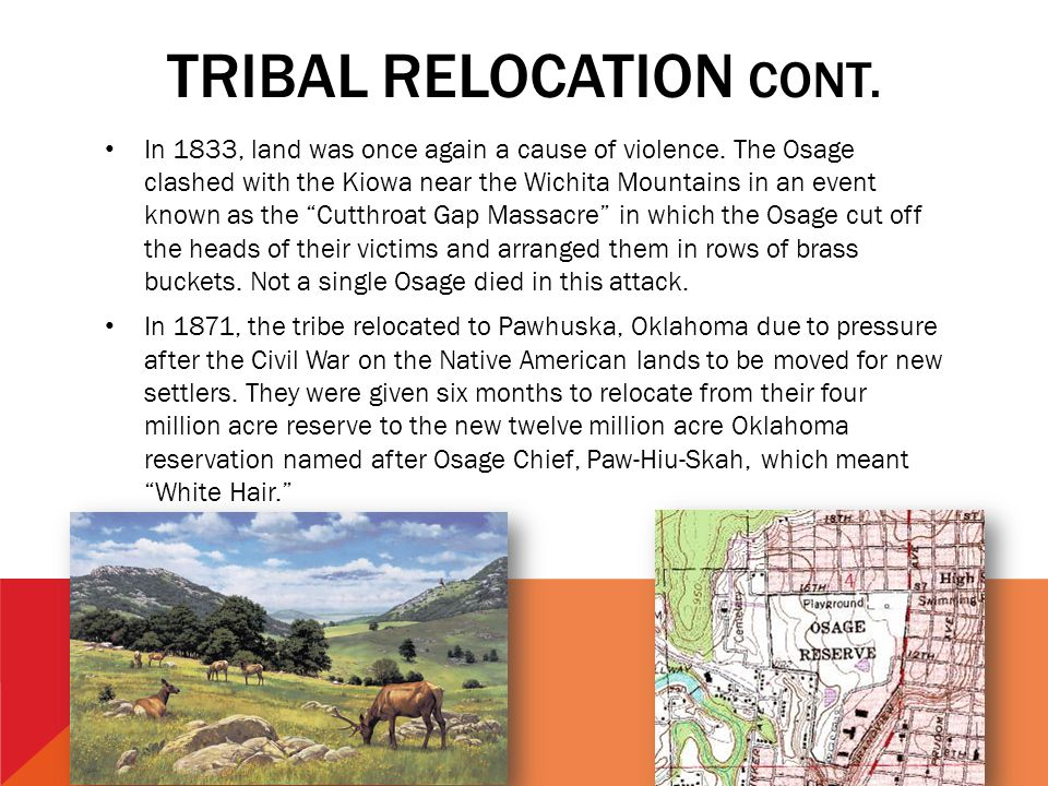 TRIBAL RELOCATION Cont.