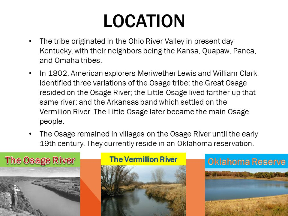 location The Osage River Oklahoma Reserve