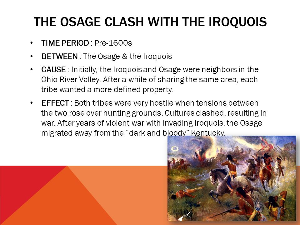 The osage clash with the iroquois