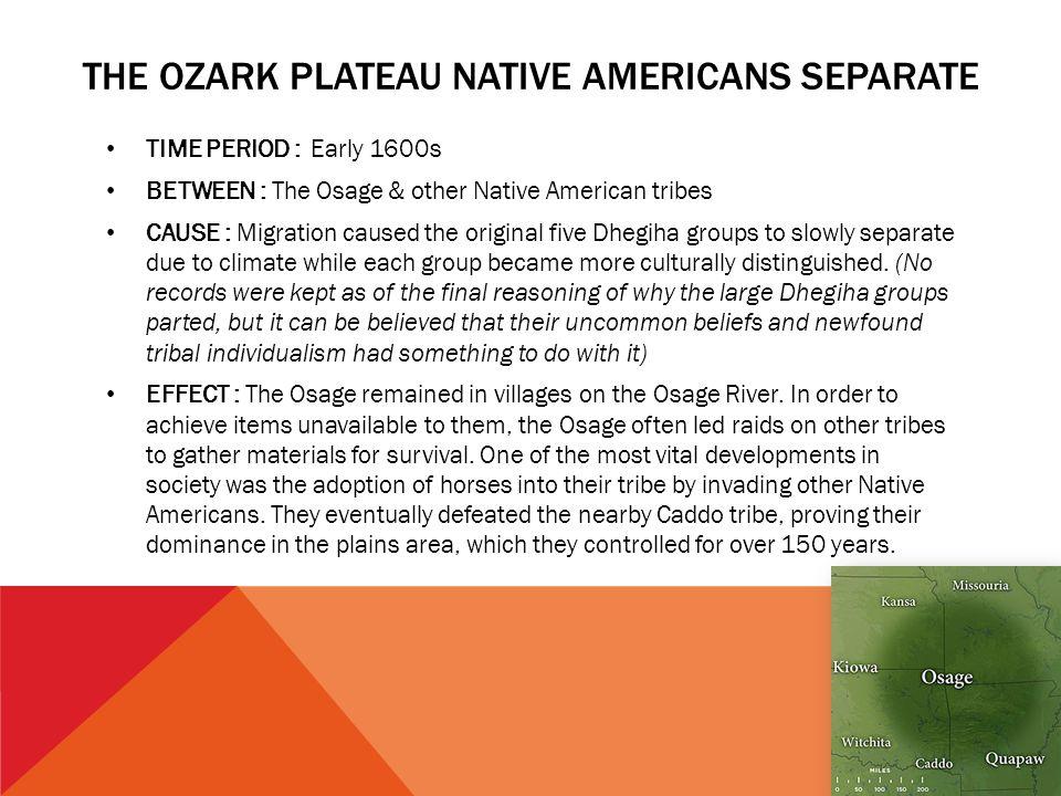 The Ozark Plateau Native Americans Separate