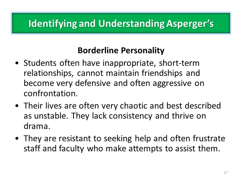 Identifying and Understanding Asperger's Borderline Personality