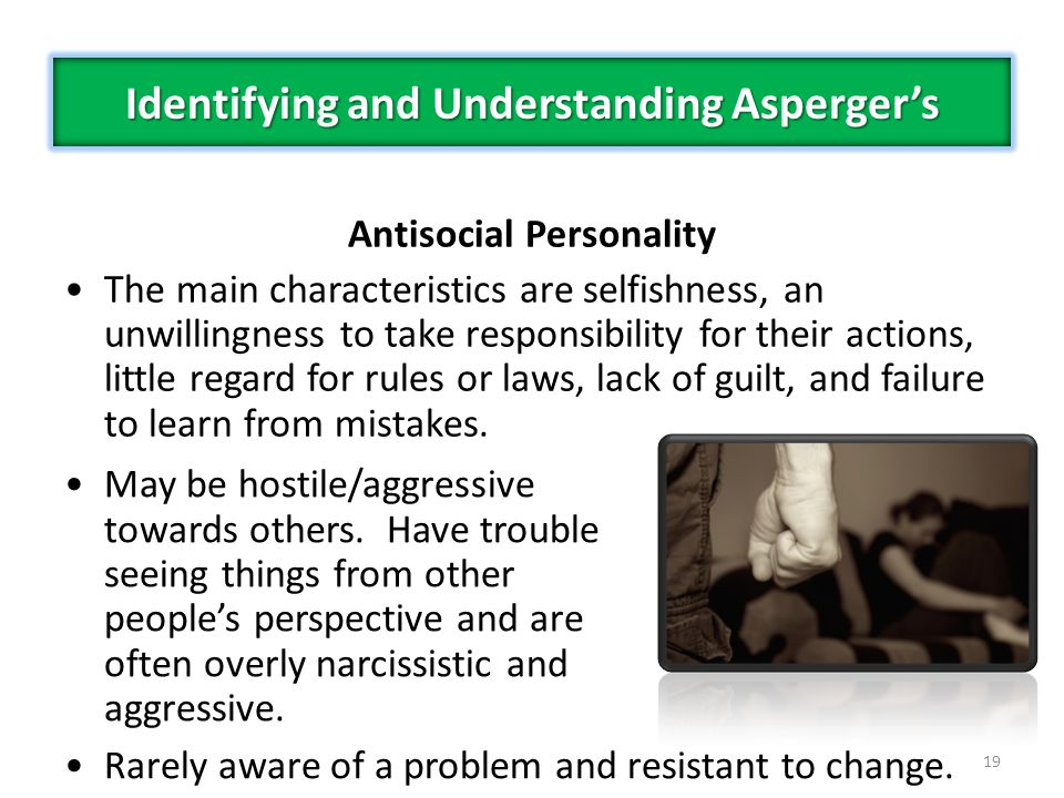 Identifying and Understanding Asperger's Antisocial Personality