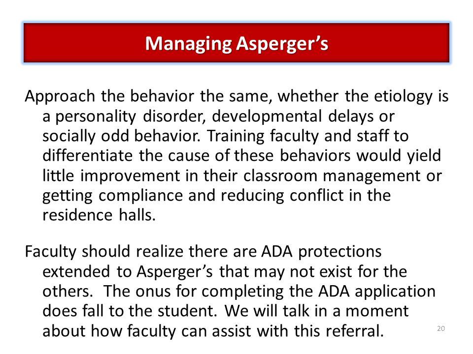 Managing Asperger's