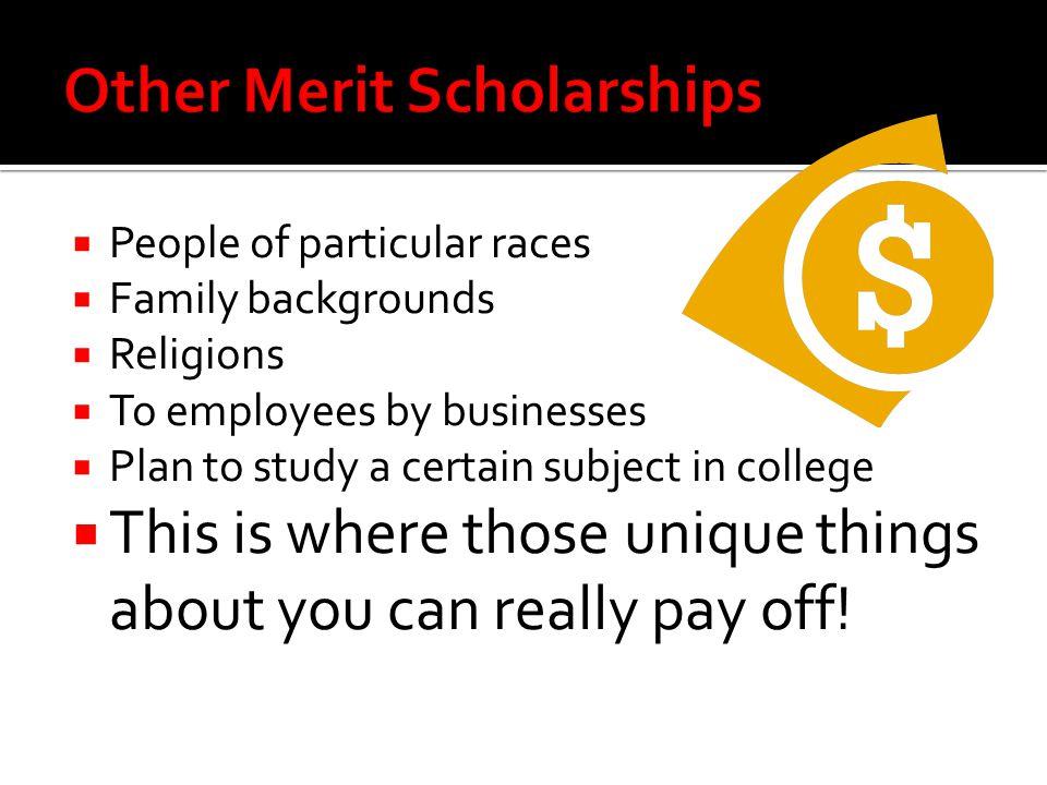 Other Merit Scholarships