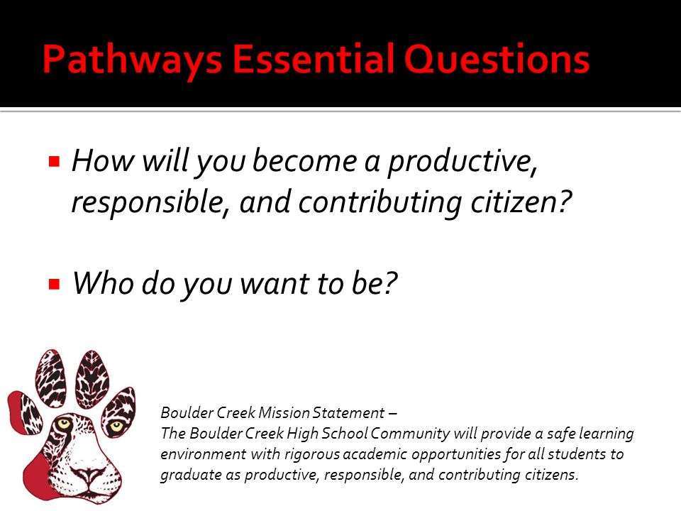 Pathways Essential Questions
