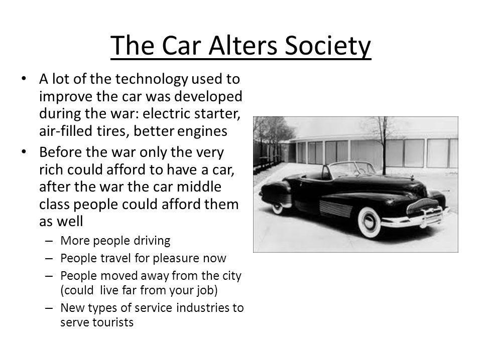 The Car Alters Society