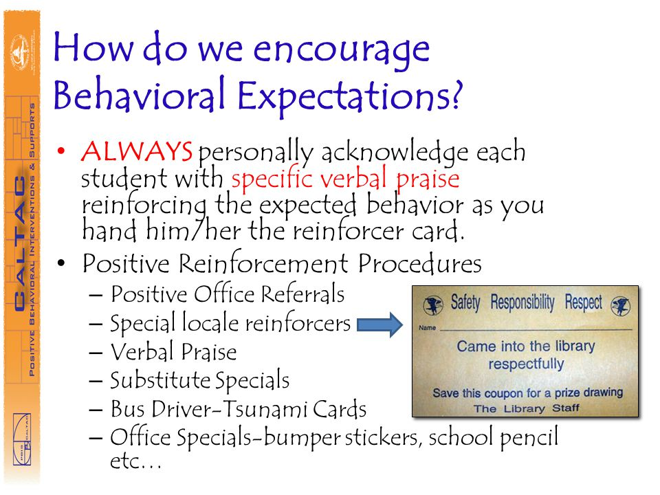 How do we encourage Behavioral Expectations