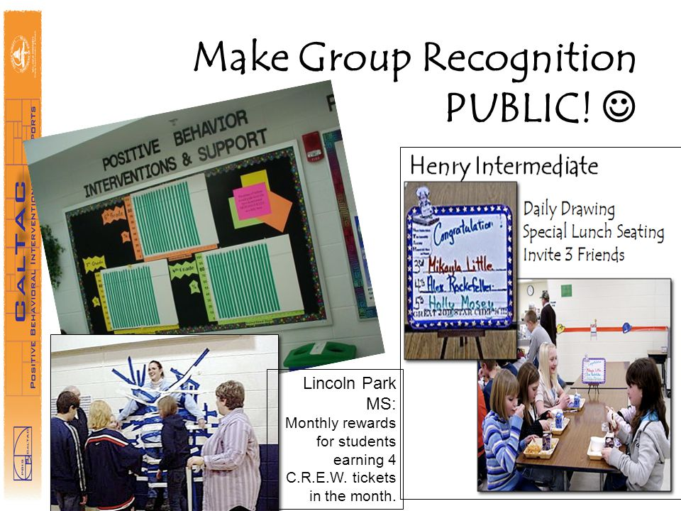 Make Group Recognition PUBLIC! 