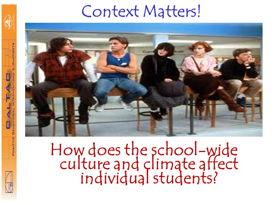 Context Matters! How does the school-wide culture and climate affect individual students