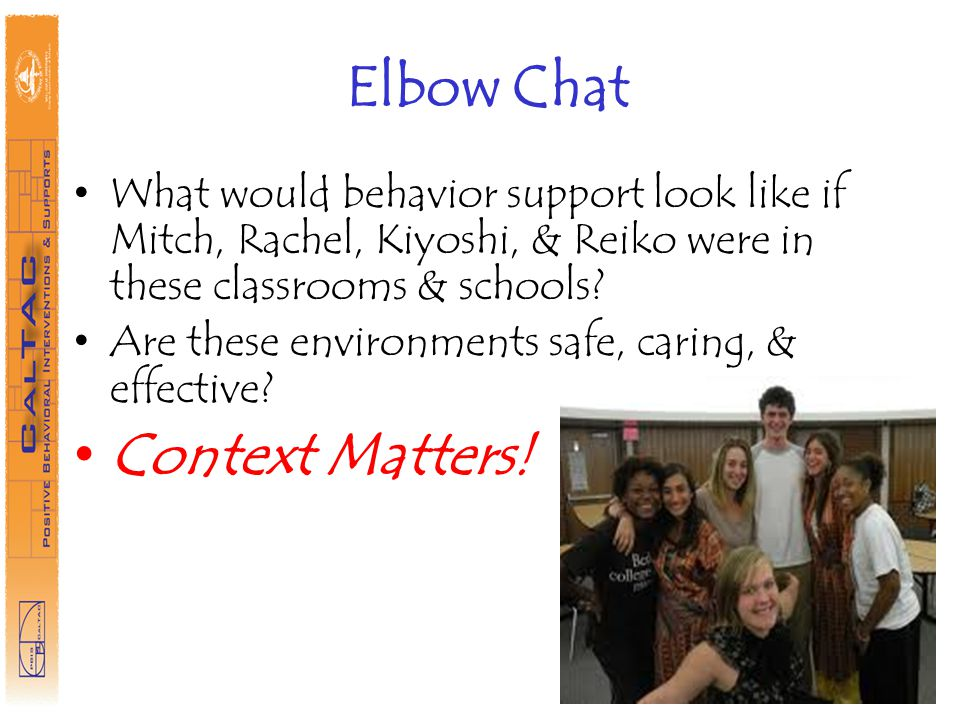 Elbow Chat Context Matters!