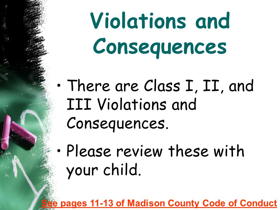Violations and Consequences