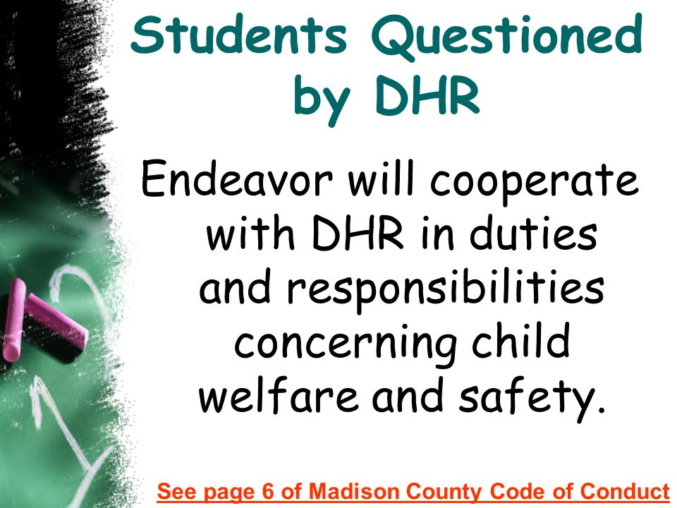 Students Questioned by DHR