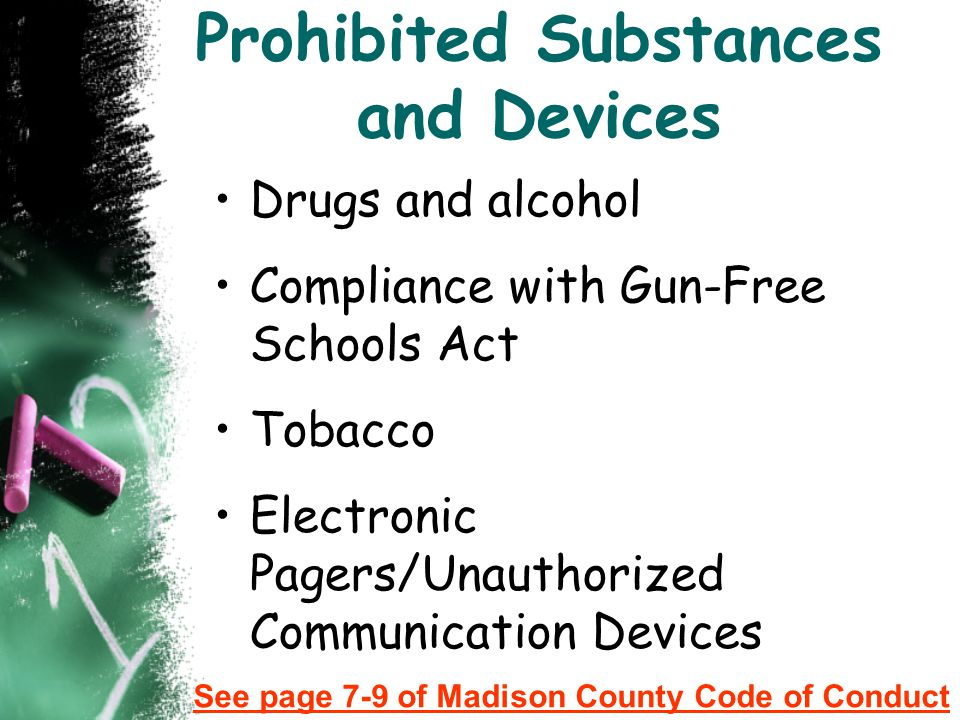 Prohibited Substances and Devices