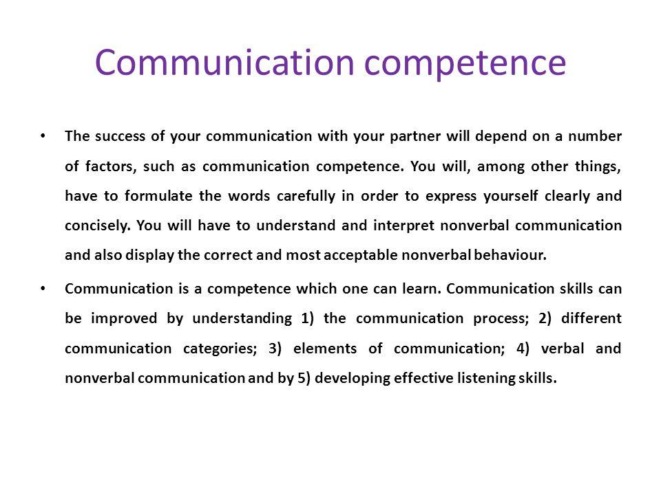 Communication competence