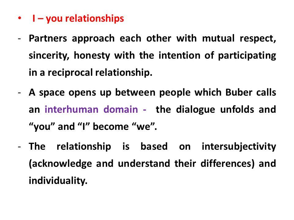 I – you relationships